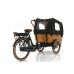 Vogue Carry 3 Elektrische Bakfiets mat Zwart - Bruin Model 2021