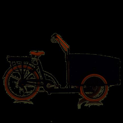 Troy Elektrische Bakfiets 7 Versnellingen zwart bruin 13Ah