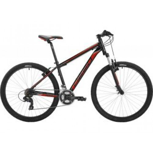 Mountainbike Deed Hoop 27,5 inch Zwart-Rood 21sp