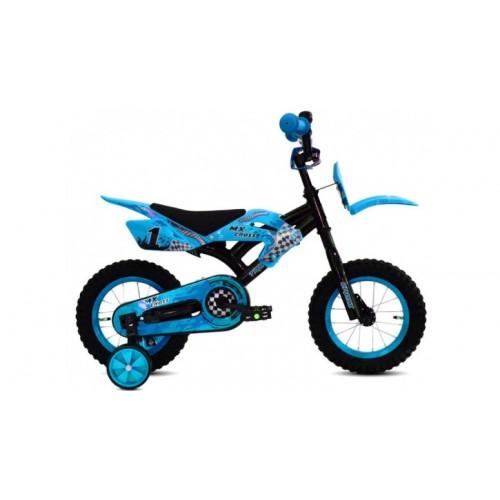 Troy MX Cross 12 inch blauw jongensfiets