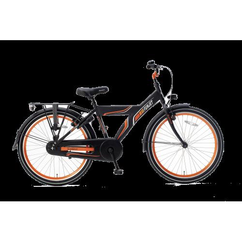 Popal Funjet X 24 Inch Zwart Oranje Jongensfiets